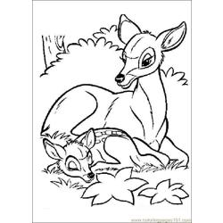 Bambi26 Free Coloring Page for Kids