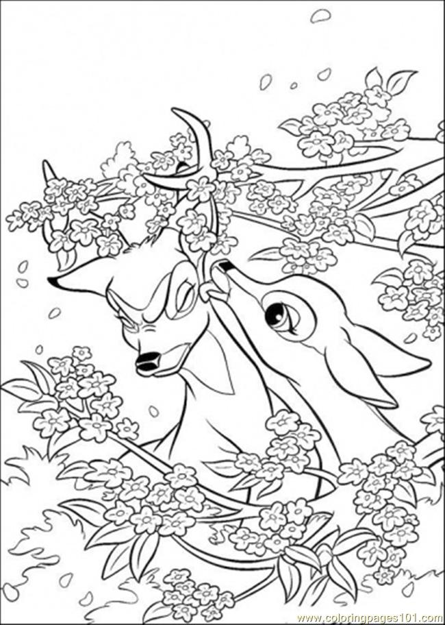 Aline And Bambi Coloring Page Coloring Page