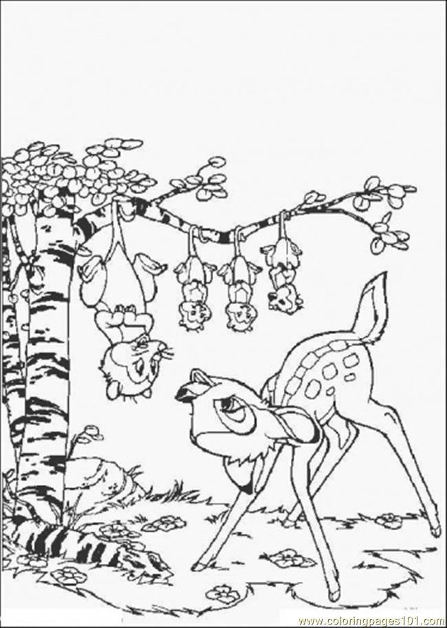 Bambi And His Friends Coloring Page