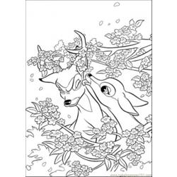 95 Aline And Bambi Coloring Page