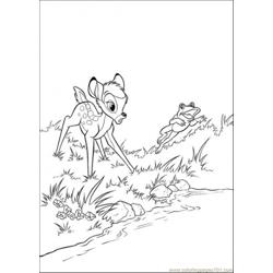 Bambi And Frog coloring page
