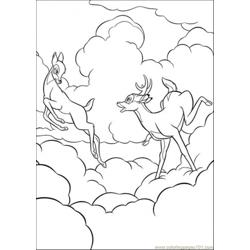 Bambi Loves Faline Free Coloring Page for Kids