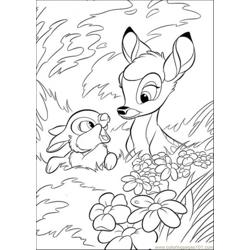 Bambi With Thumper In The Forest
