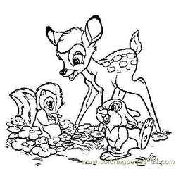 Colorbambispals Free Coloring Page for Kids