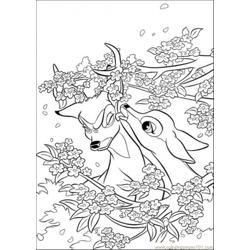 Faline And Bambi Free Coloring Page for Kids
