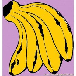 Banana 20 Free Coloring Page for Kids