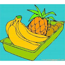 Banana 7 Free Coloring Page for Kids
