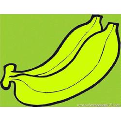 Banana 8 Free Coloring Page for Kids