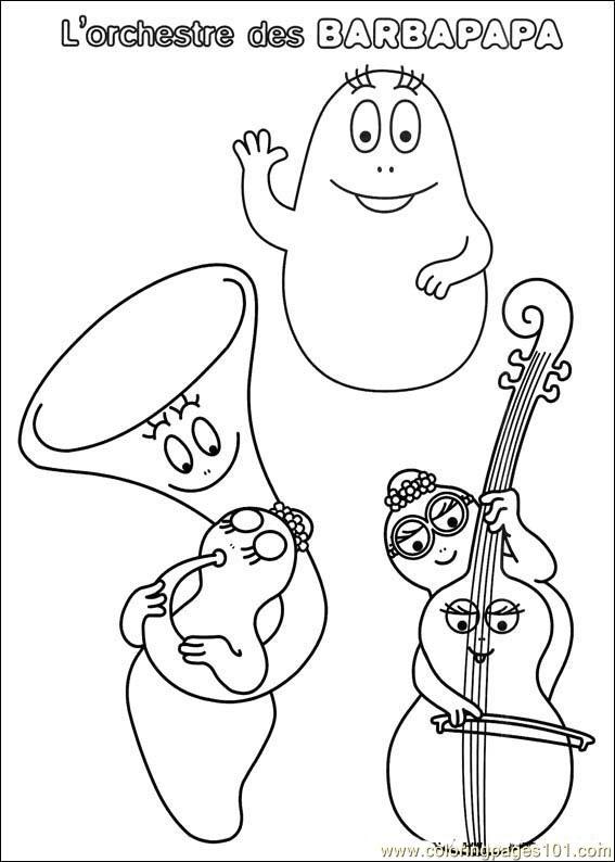 Barbapapa 38 coloring page free barbapapa coloring pages - Barbapapa coloriage ...