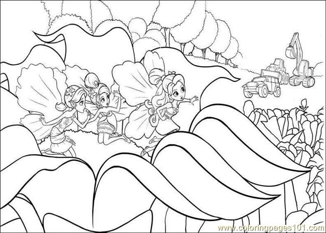 Coloring Barbie Thumbelina 001 Coloring Page