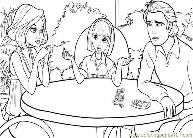 Coloring Barbie Thumbelina 014 Coloring Page Free Barbie