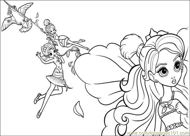 Coloring Barbie Thumbelina 015 Coloring Page