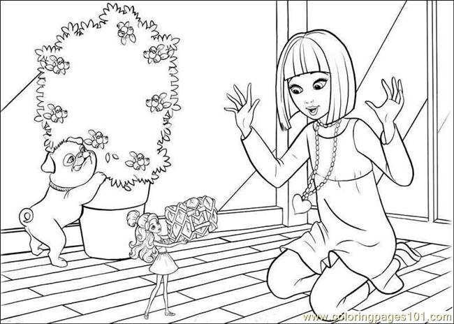 barbie thumbelina free coloring pages - photo#17