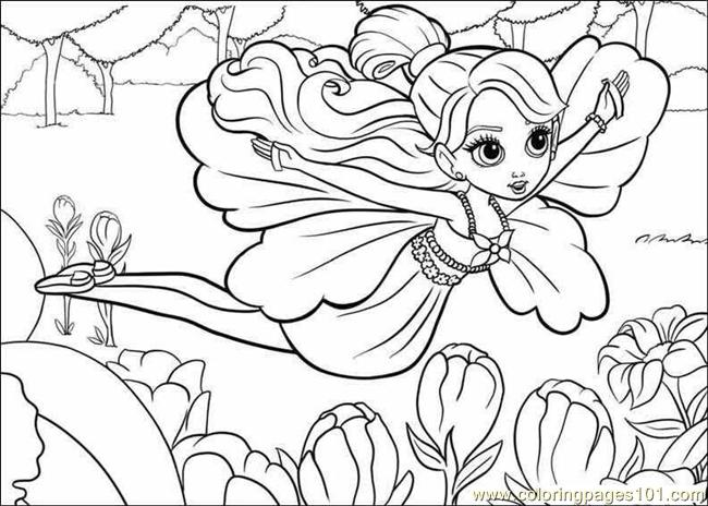 Coloring Barbie Thumbelina 018 Coloring Page
