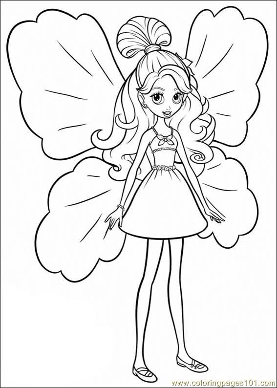 Coloring Barbie Thumbelina 019 Coloring Page Free Barbie