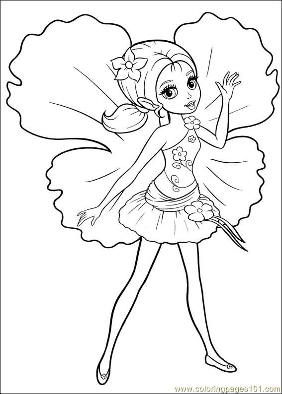 Coloring Barbie Thumbelina 020 Coloring Page
