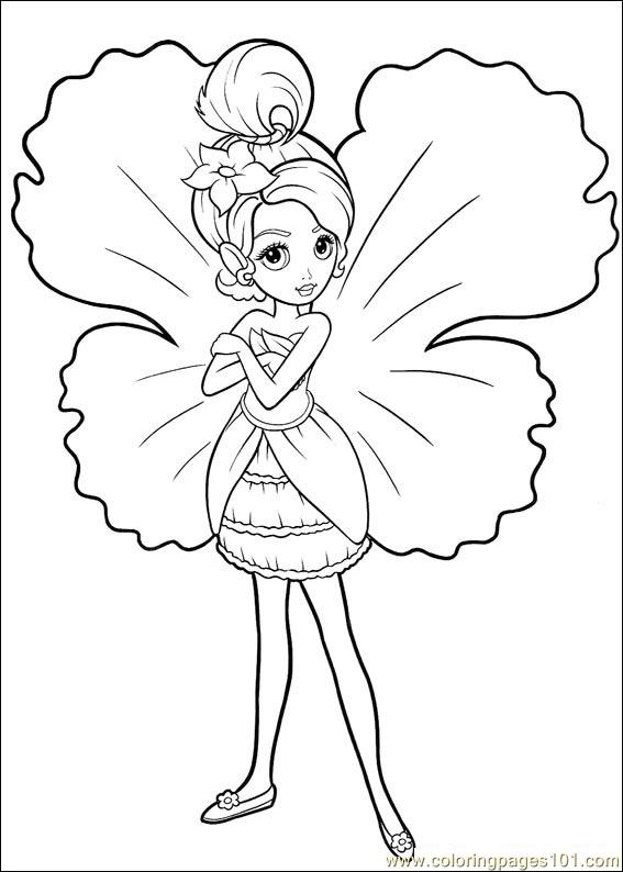 Coloring Barbie Thumbelina 021 printable coloring page for