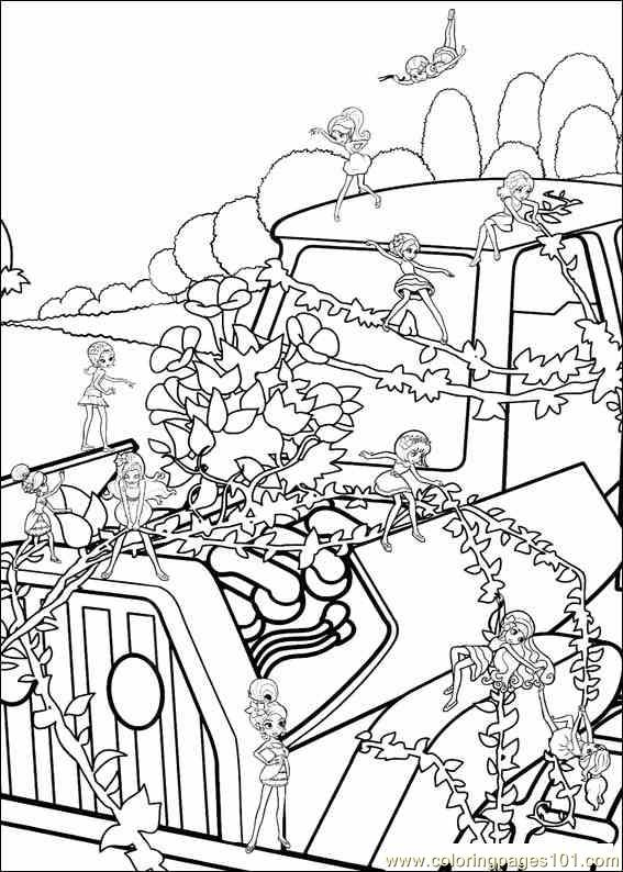 Coloring Barbie Thumbelina 026 Coloring Page