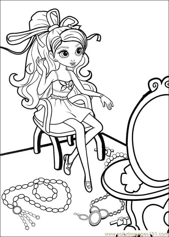 Coloring Barbie Thumbelina 027 Coloring Page