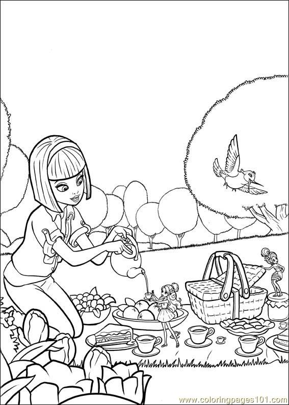 Barbie Thumbelina 13 Coloring Page