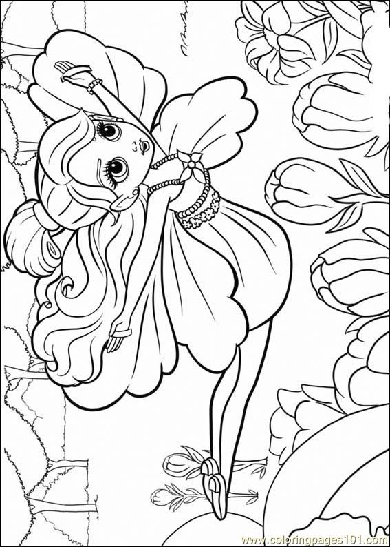 Barbie Thumbelina 18 Coloring Page