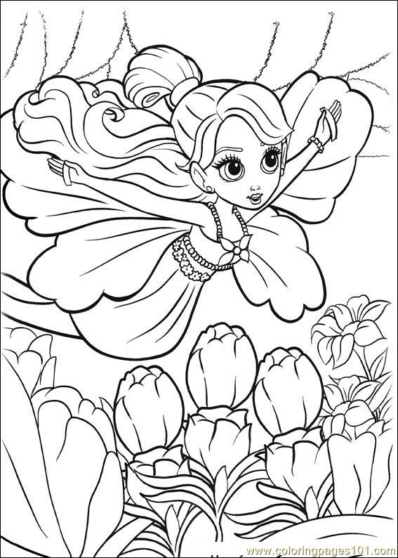 Barbie Thumbelina 3 Coloring Page