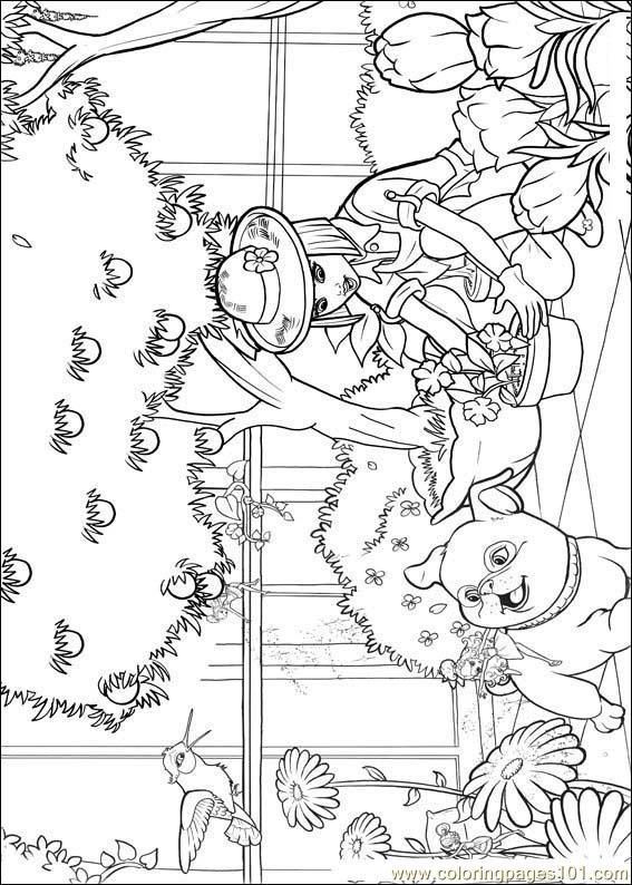 Barbie Thumbelina 6 Coloring Page