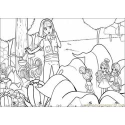 Coloring Barbie Thumbelina 005