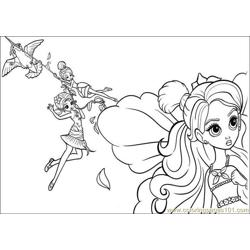 Coloring Barbie Thumbelina 015