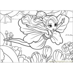 Coloring Barbie Thumbelina 018