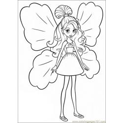 Coloring Barbie Thumbelina 019