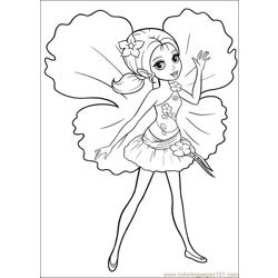 Coloring Barbie Thumbelina 020
