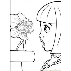 Coloring Barbie Thumbelina 024 Free Coloring Page for Kids