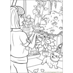 Coloring Barbie Thumbelina 028 Free Coloring Page for Kids