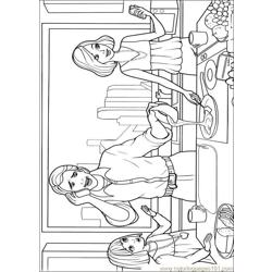 Barbie Thumbelina 010 Free Coloring Page for Kids