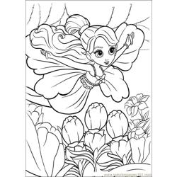 Barbie Thumbelina 3 Free Coloring Page for Kids