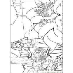 Barbie Thumbelina 5 Free Coloring Page for Kids