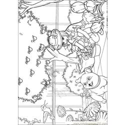 Barbie Thumbelina 6 Free Coloring Page for Kids