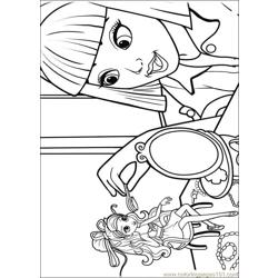 Barbie Thumbelina 7 Free Coloring Page for Kids