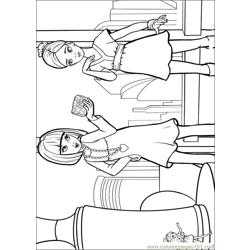 Barbie Thumbelina 9 Free Coloring Page for Kids