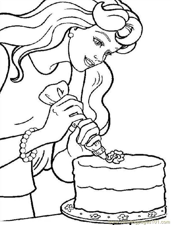 001 Barbie 66 Coloring Page