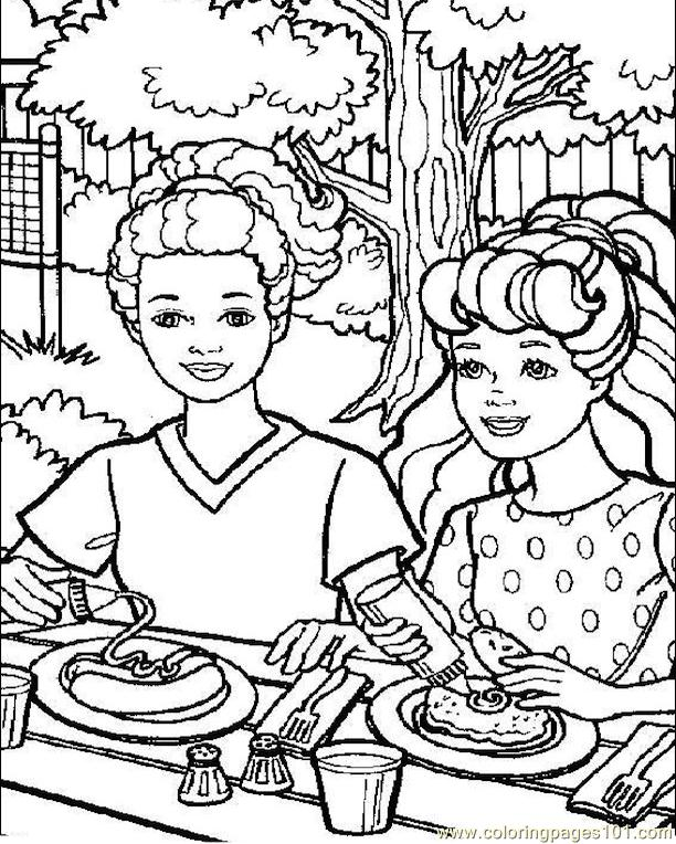 001 Barbie 69 Coloring Page