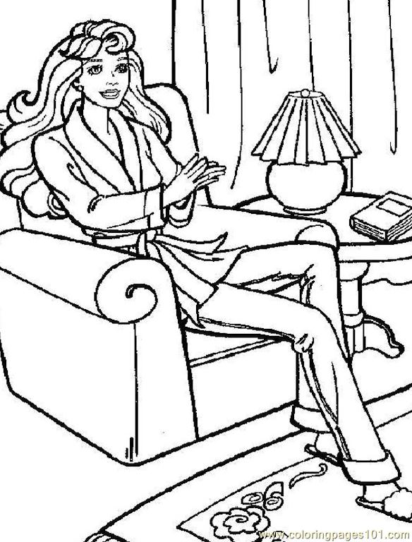 001 Barbie 72 Coloring Page