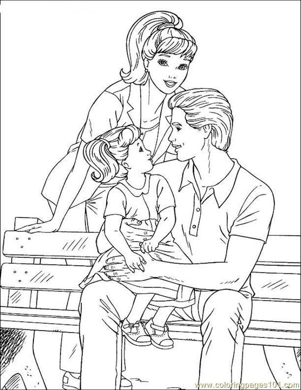 001 Barbie 83 Coloring Page