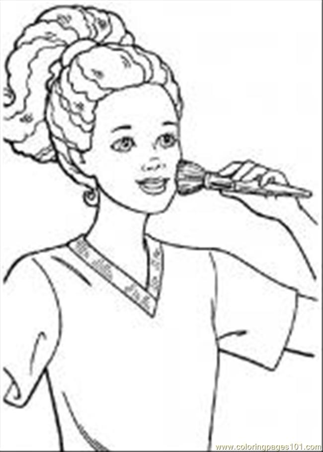 45 Barbie6 M Coloring Page
