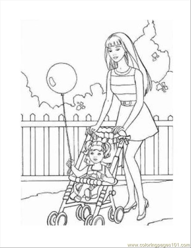 9 Barbie Coloring Pages 04 Coloring Page