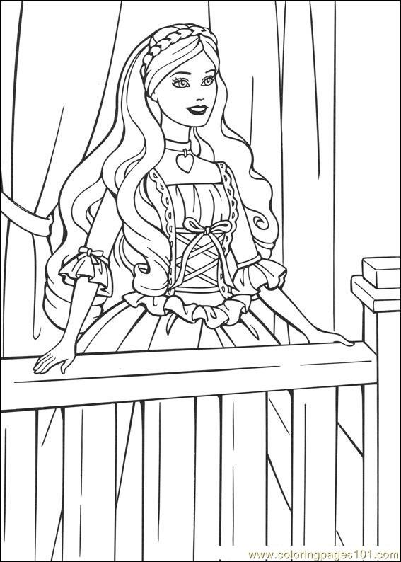 - Barbie-Princess Coloring Page - Free Barbie Coloring Pages :  ColoringPages101.com
