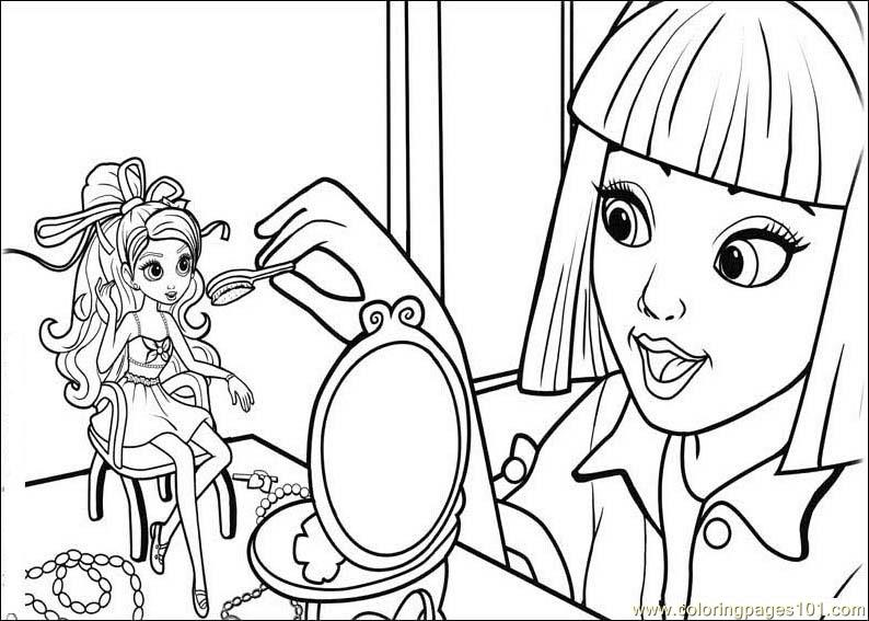 BarbieThumbelina Coloring Page Free Barbie Pages