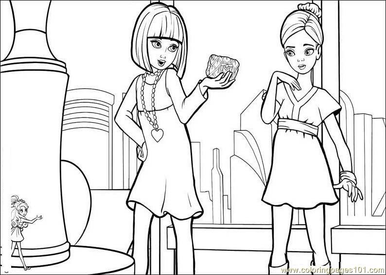 barbie thumbelina coloring page