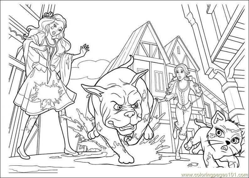 Barbie And The Three Musketeers Coloring Page Free